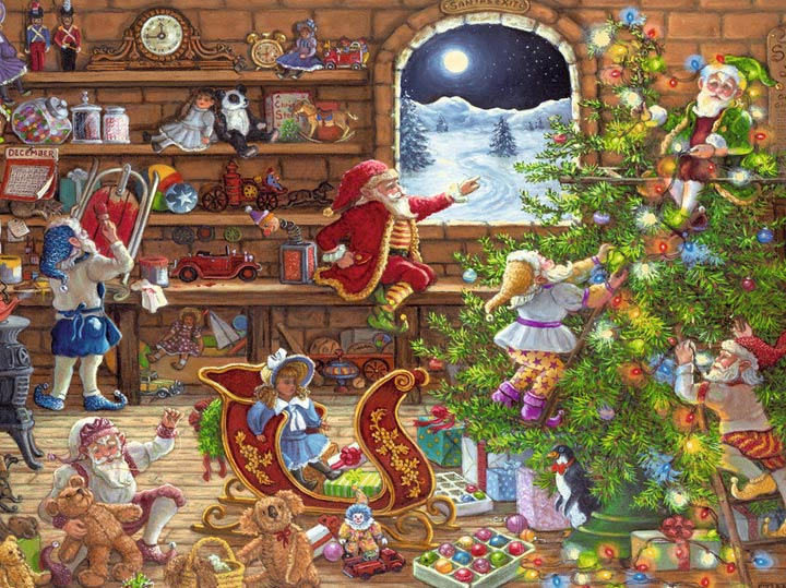 Christmas themes jigsaw puzzles
