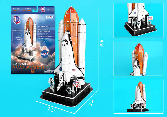 NASA Space Shuttle - 87pc 3D Jigsaw Puzzle by Daron