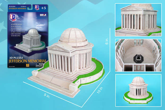 Jefferson Memorial - 35pc 3D Jigsaw Puzzle by Daron