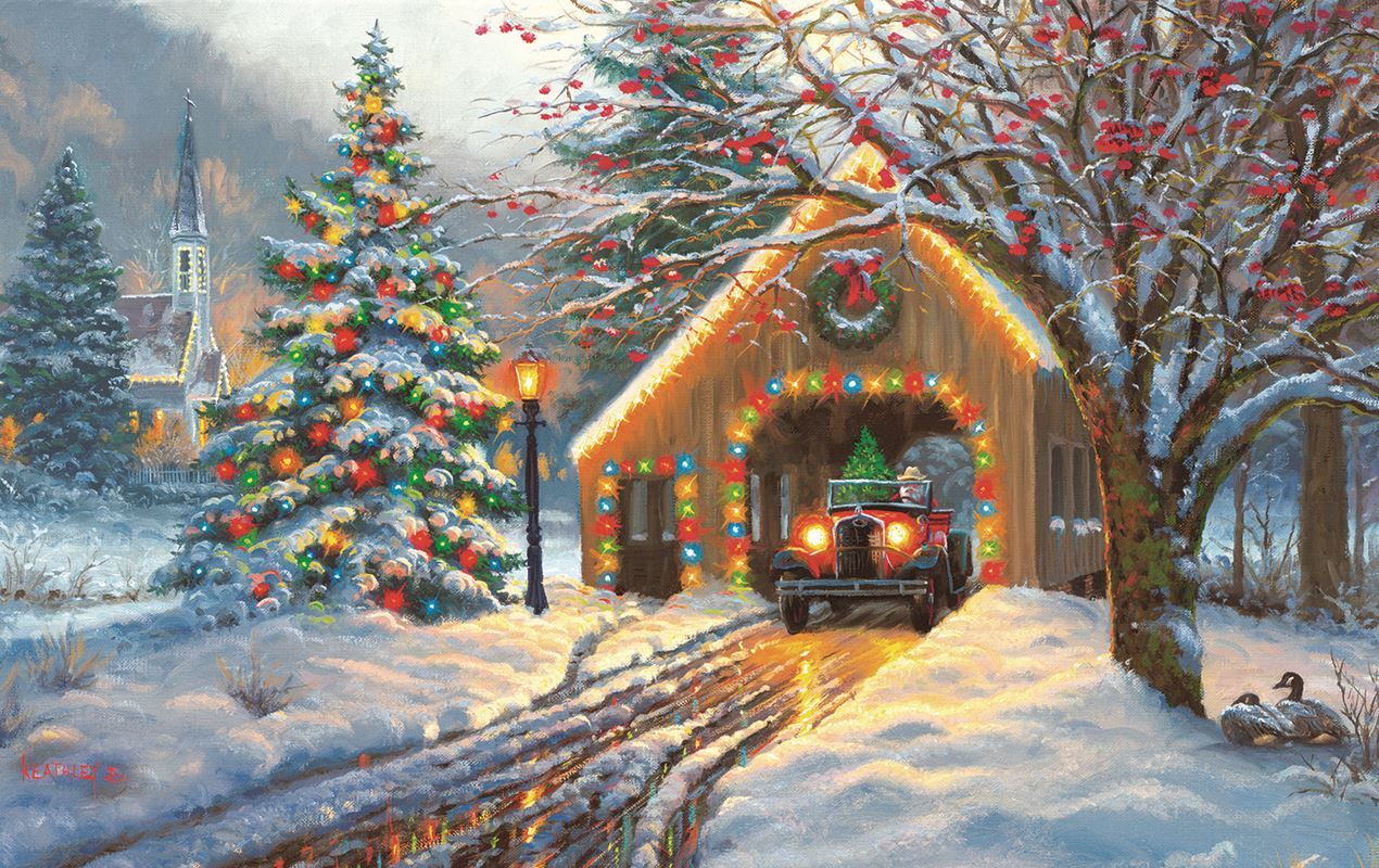 Christmas Crossing - 550pc Jigsaw Puzzle by Sunsout  			  					NEW