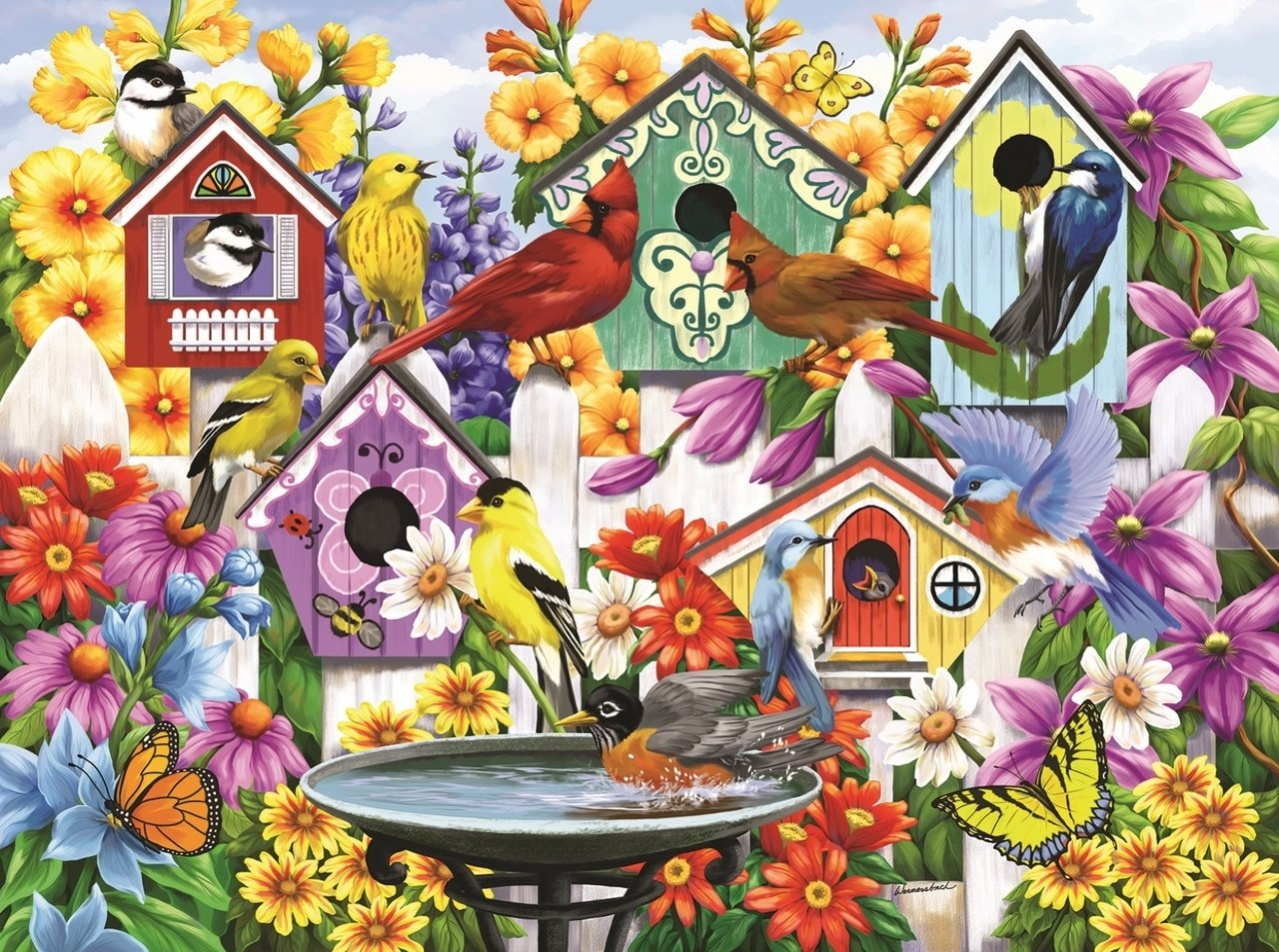 Garden Neighbors - 1000pc Jigsaw Puzzle By Sunsout  			  					NEW