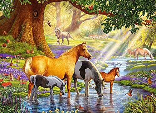 Horses by the Stream - 300pc Jigsaw Puzzle By Castorland  			  					NEW