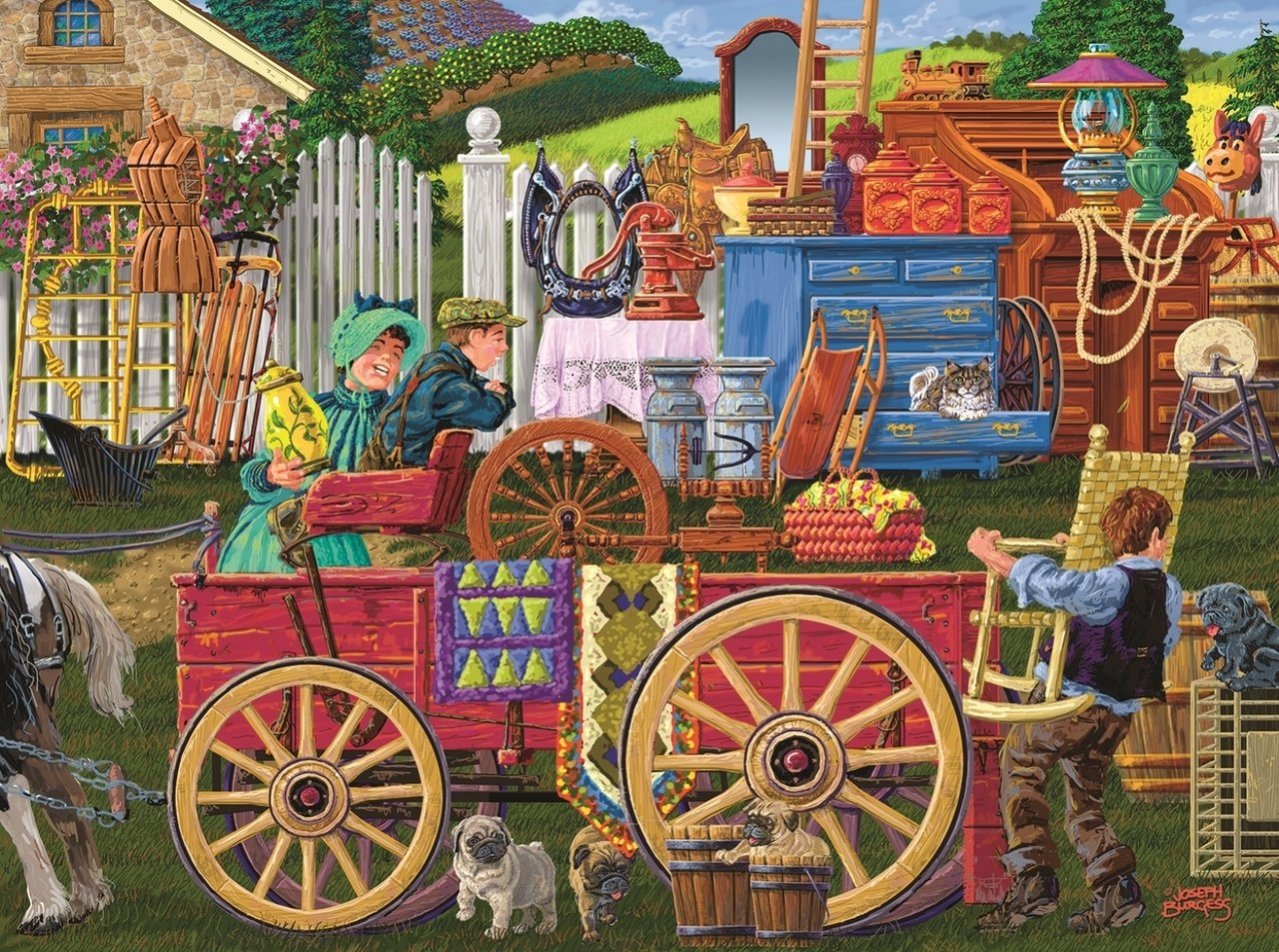 Vintage Yard Sale - 1000pc Jigsaw Puzzle By Sunsout  			  					NEW