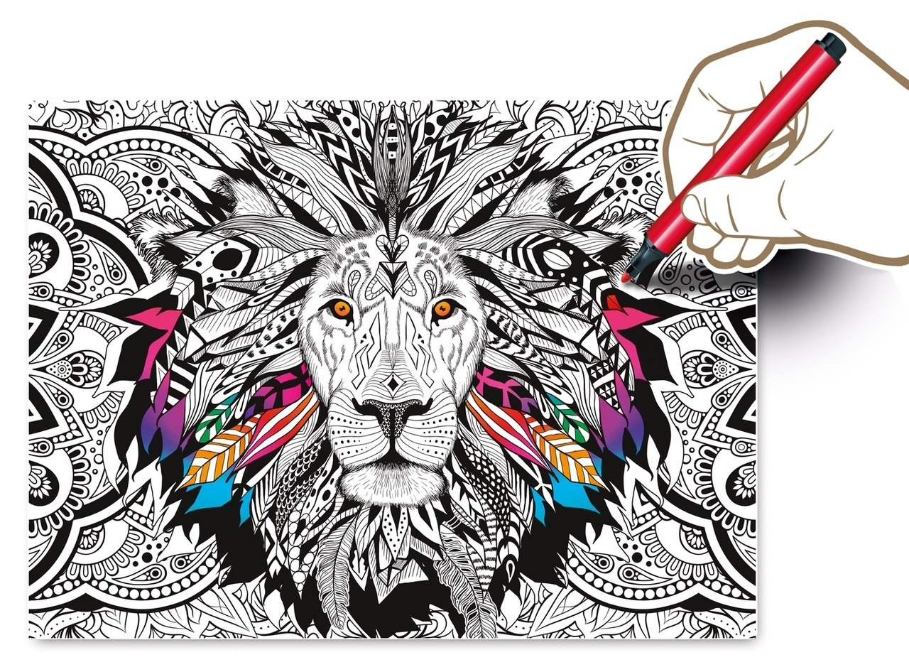 3D Color Therapy: Lion - 500 pc Jigsaw Puzzle by Clementoni  			  					NEW - image 2