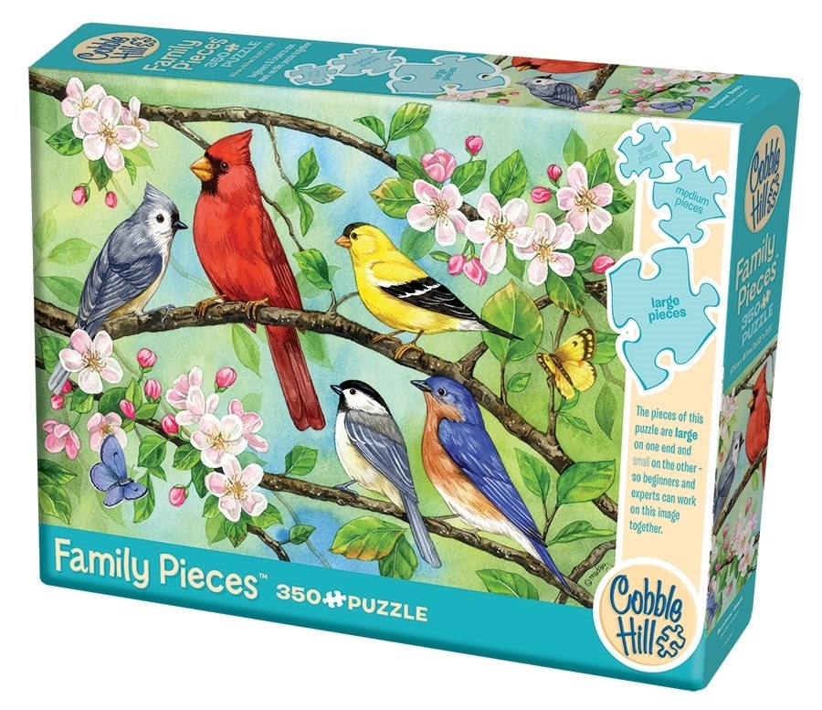 Bloomin' Birds - 350pc Family Jigsaw Puzzle by Cobble Hill  			  					NEW - image 1
