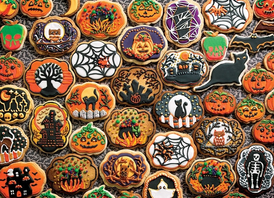 Halloween Cookies - 350pc Family Jigsaw Puzzle by Cobble Hill  			  					NEW