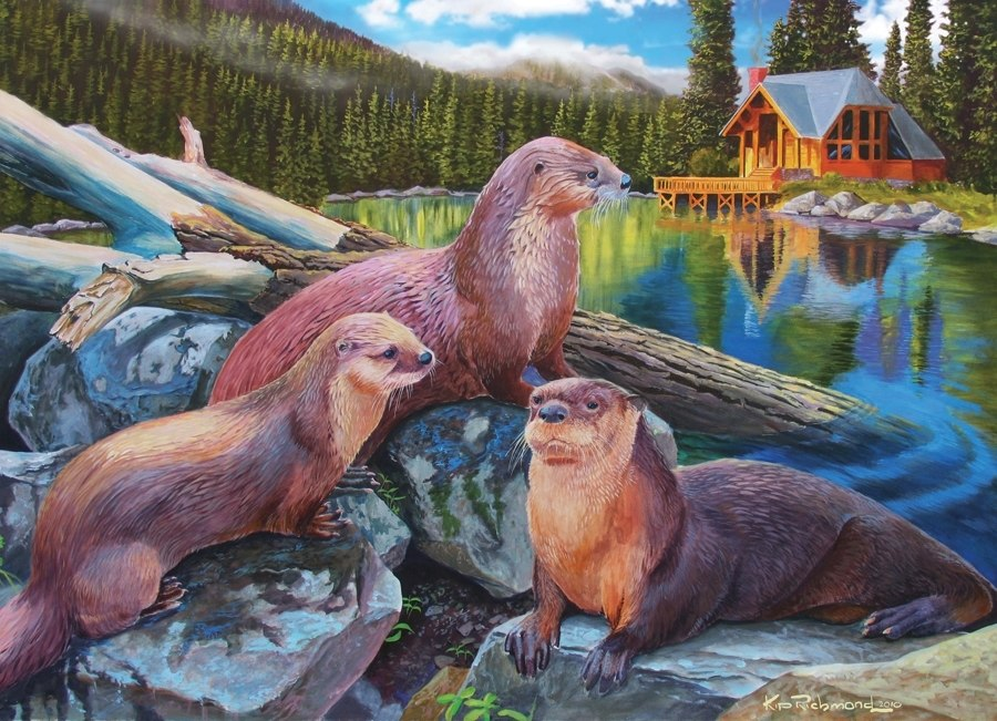 River Otters - 1000pc Jigsaw Puzzle by Cobble Hill  			  					NEW