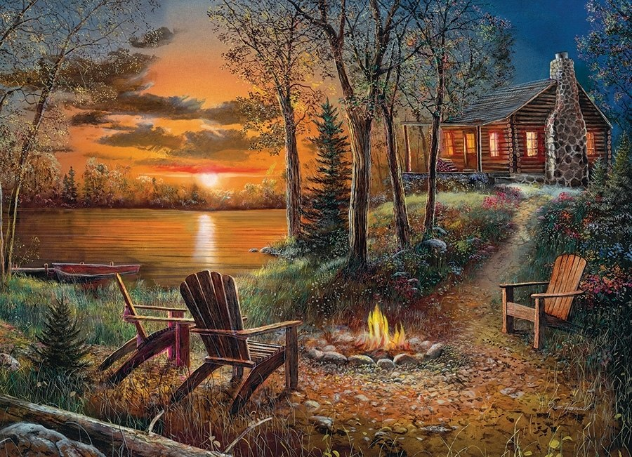 Fireside - 500pc Jigsaw Puzzle By Cobble Hill  			  					NEW