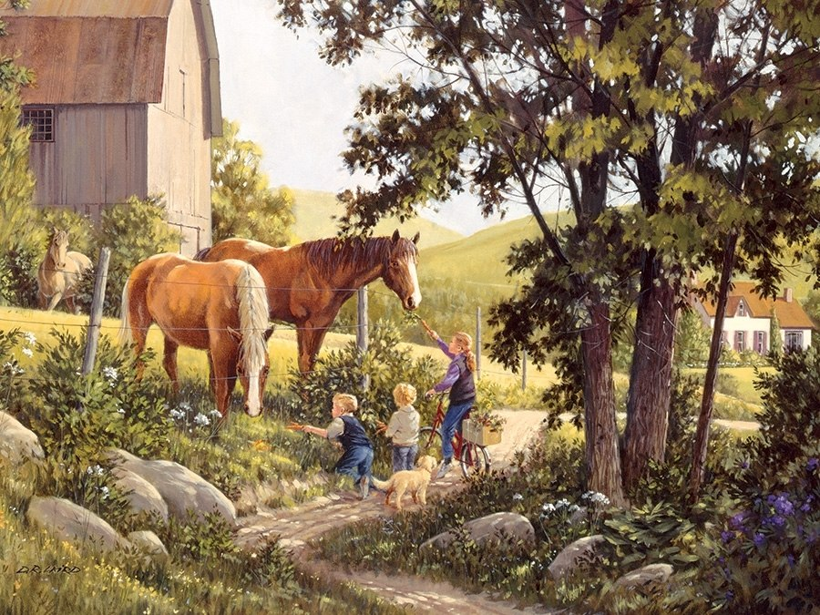 Summer Horses (new) - 500pc Jigsaw Puzzle By Cobble Hill  			  					NEW