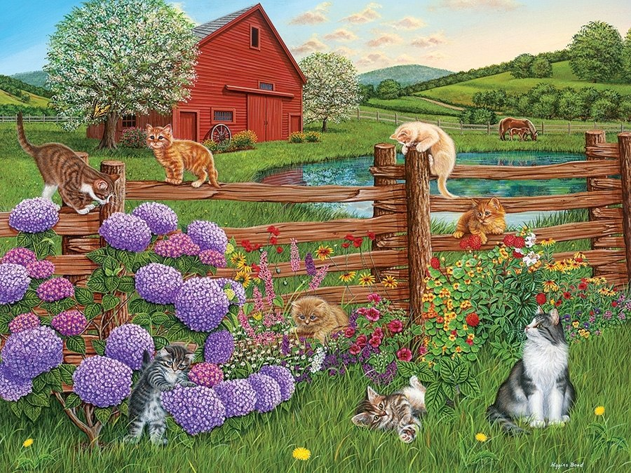 Farm Cats - 275pc Easy Handling Puzzle by Cobble Hill  			  					NEW