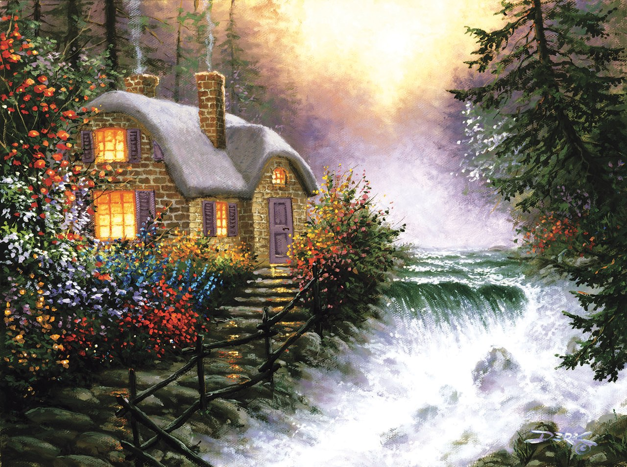 River's Edge - 1000pc Jigsaw Puzzle By Sunsout  			  					NEW