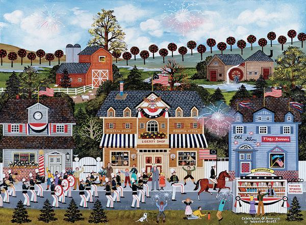 Jane Wooster Scott: Celebration of America - 1000pc Jigsaw Puzzle by Ceaco  			  					NEW