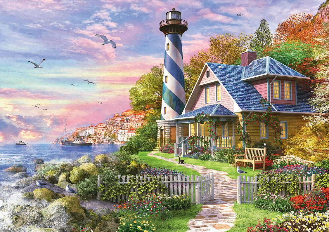 Lighthouse at Rock Bay - 4000pc Jigsaw Puzzle by Educa  			  					NEW