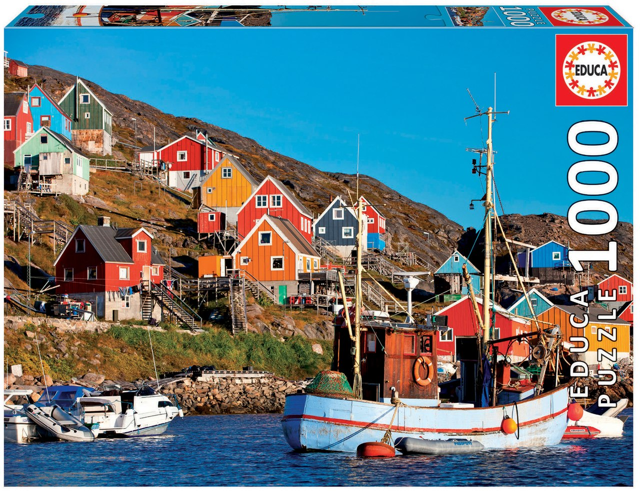 Nordic Houses - 1000pc Jigsaw Puzzle by Educa  			  					NEW - image 1
