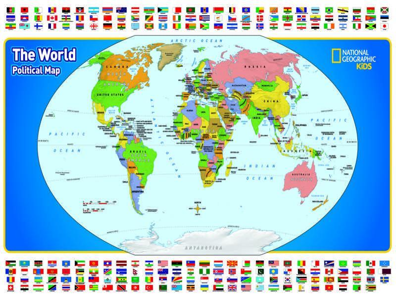 The World Kids Map - 300pc Jigsaw Puzzle by New York Puzzle Company  			  					NEW