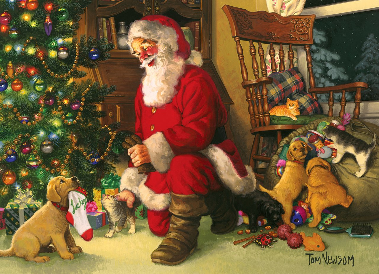 Santa's Lucky Stocking - 350pc Family Jigsaw Puzzle by Cobble Hill  			  					NEW