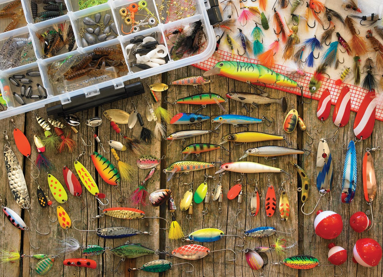 Fishing Lures - 1000pc Jigsaw Puzzle By Cobble Hill  			  					NEW