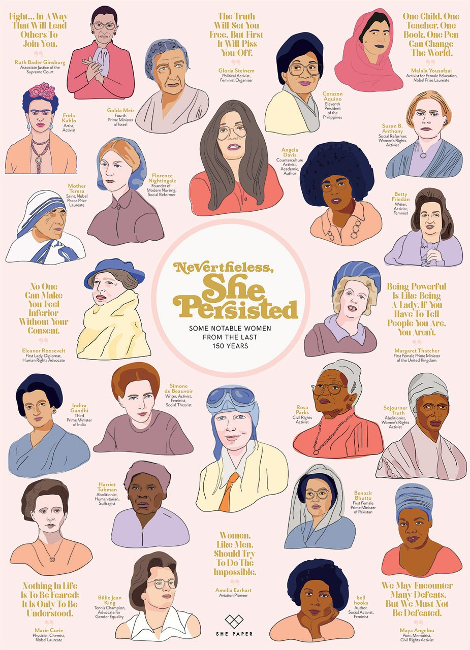 Nevertheless, She Persisted - 1000pc Jigsaw Puzzle by Cobble Hill  			  					NEW