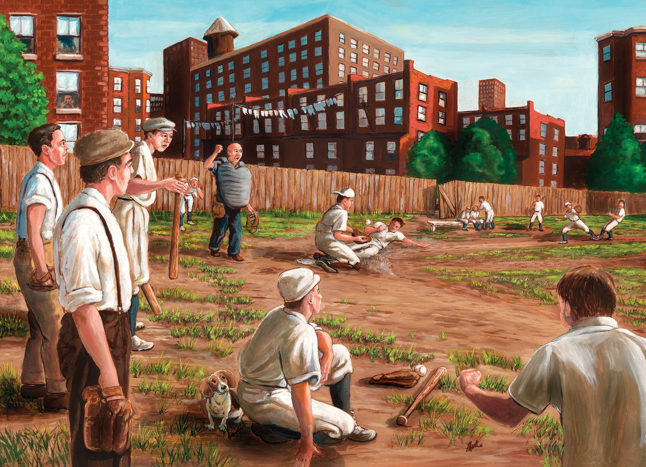 Old Time Baseball - 1000pc Jigsaw Puzzle by Cobble Hill  			  					NEW