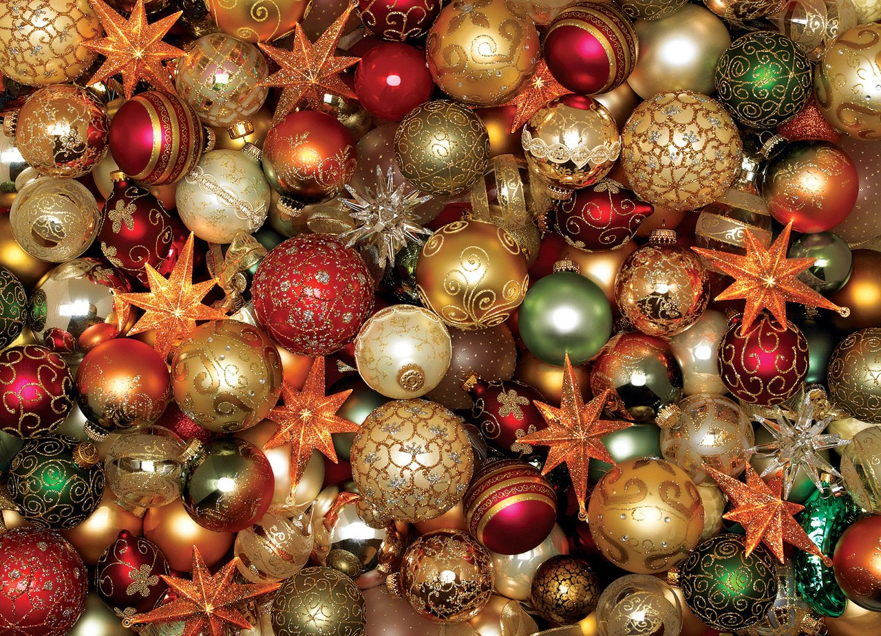 Christmas Balls - 500pc Jigsaw Puzzle By Cobble Hill  			  					NEW