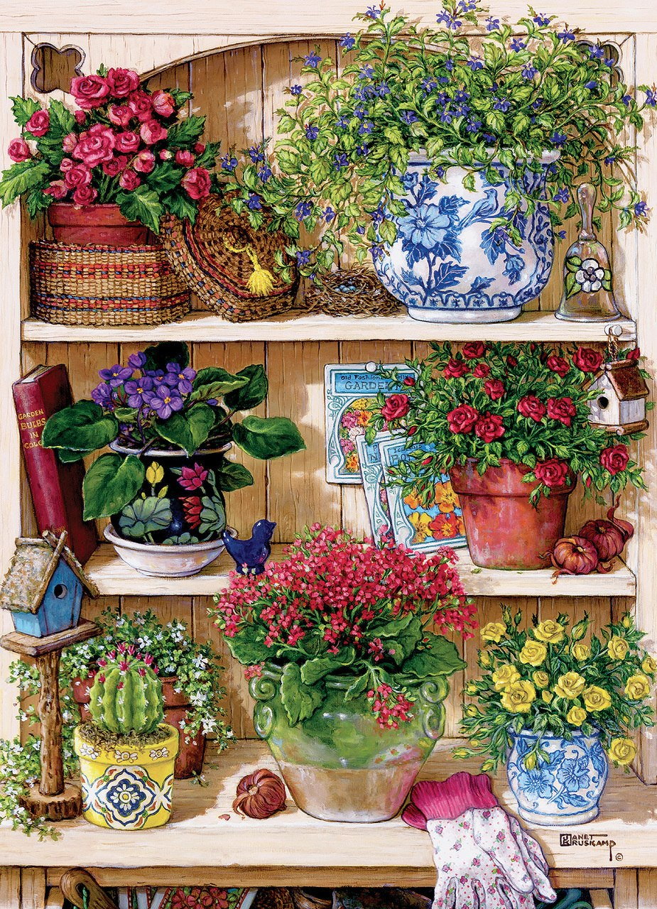 Flower Cupboard - 500pc Jigsaw Puzzle By Cobble Hill  			  					NEW