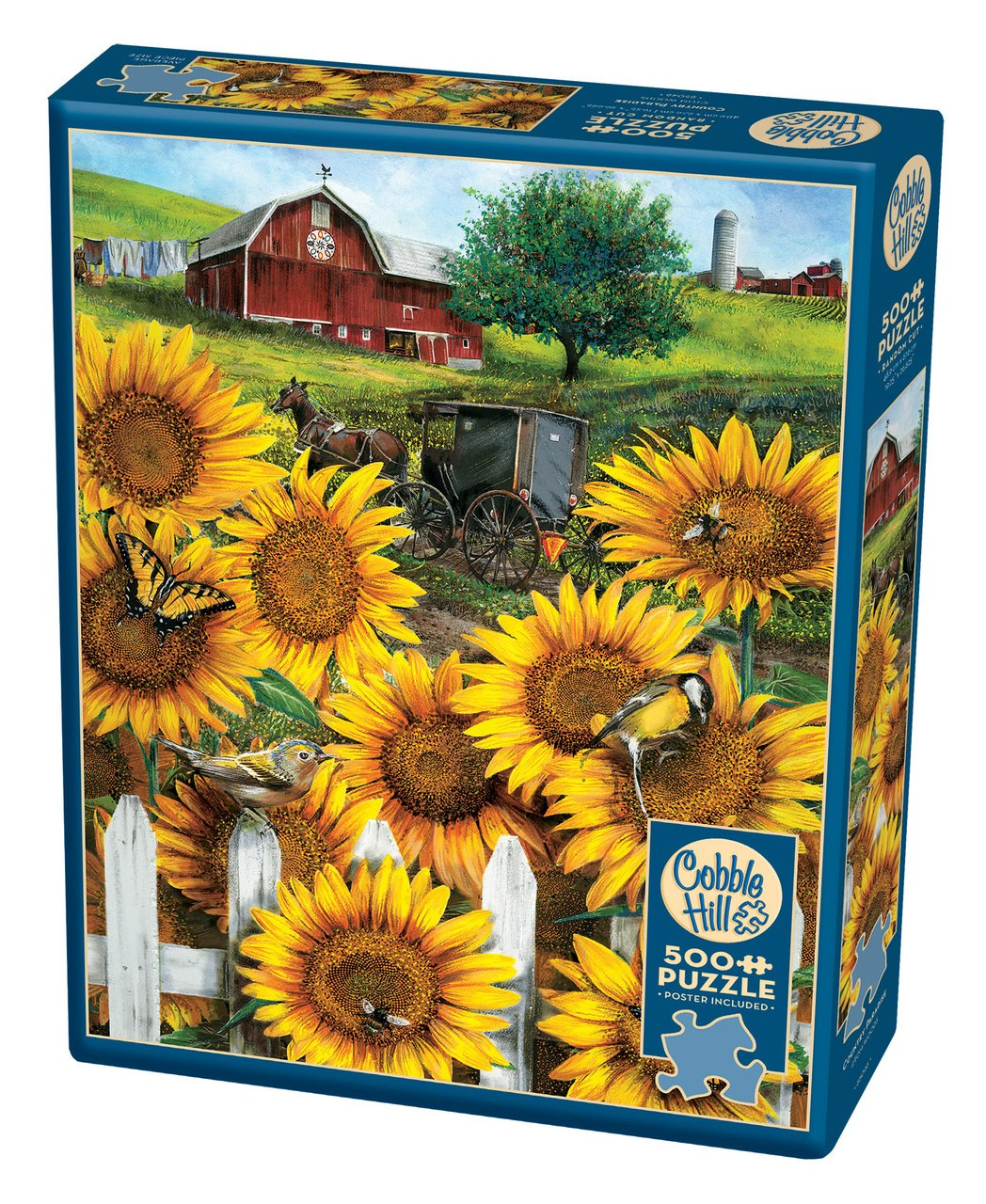 Country Paradise - 500pc Jigsaw Puzzle By Cobble Hill  			  					NEW