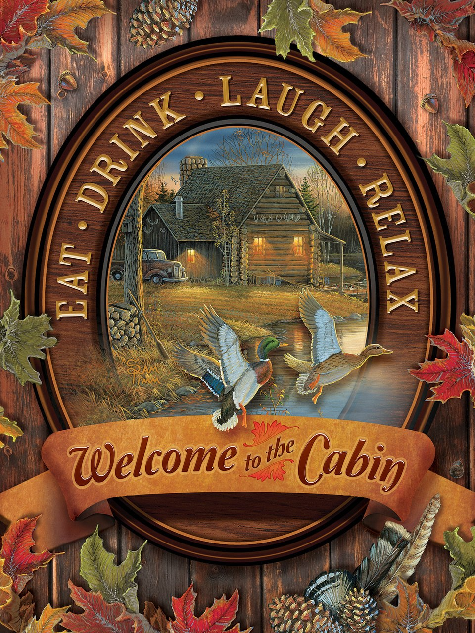 Welcome to the Cabin - 275pc Easy Handling Puzzle by Cobble Hill  			  					NEW