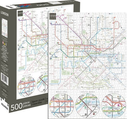 London Underground - 500pc Jigsaw Puzzle by Aquarius  			  					NEW