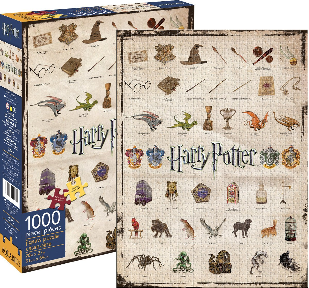 Harry Potter: Icons - 1000pc Jigsaw Puzzle by Aquarius  			  					NEW