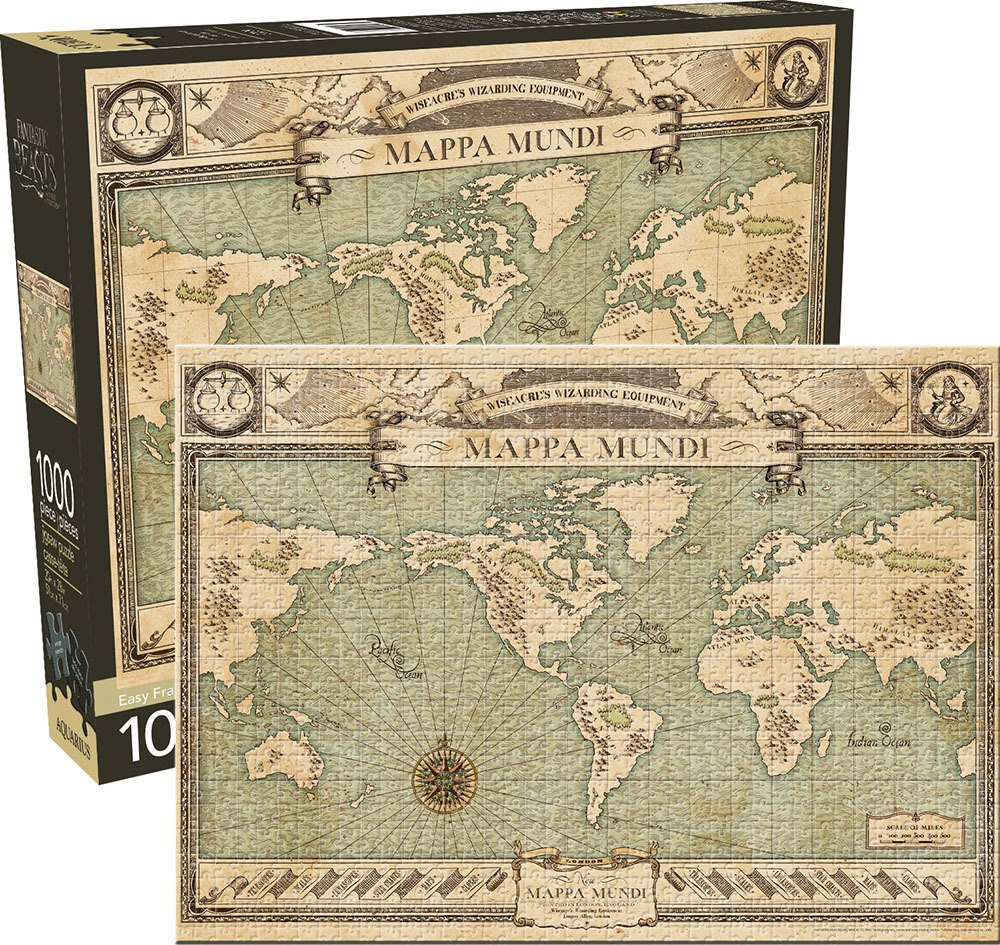 Fantastic Beasts: Map - 1000pc Jigsaw Puzzle by Aquarius  			  					NEW