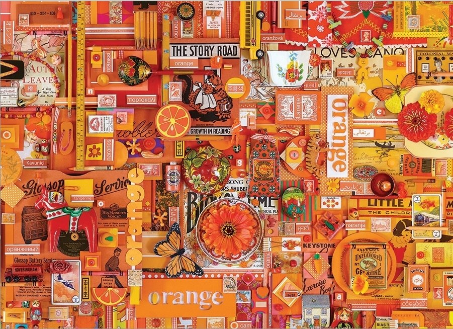 Rainbow Project: Orange - 1000pc Jigsaw Puzzle by Cobble Hill  			  					NEW
