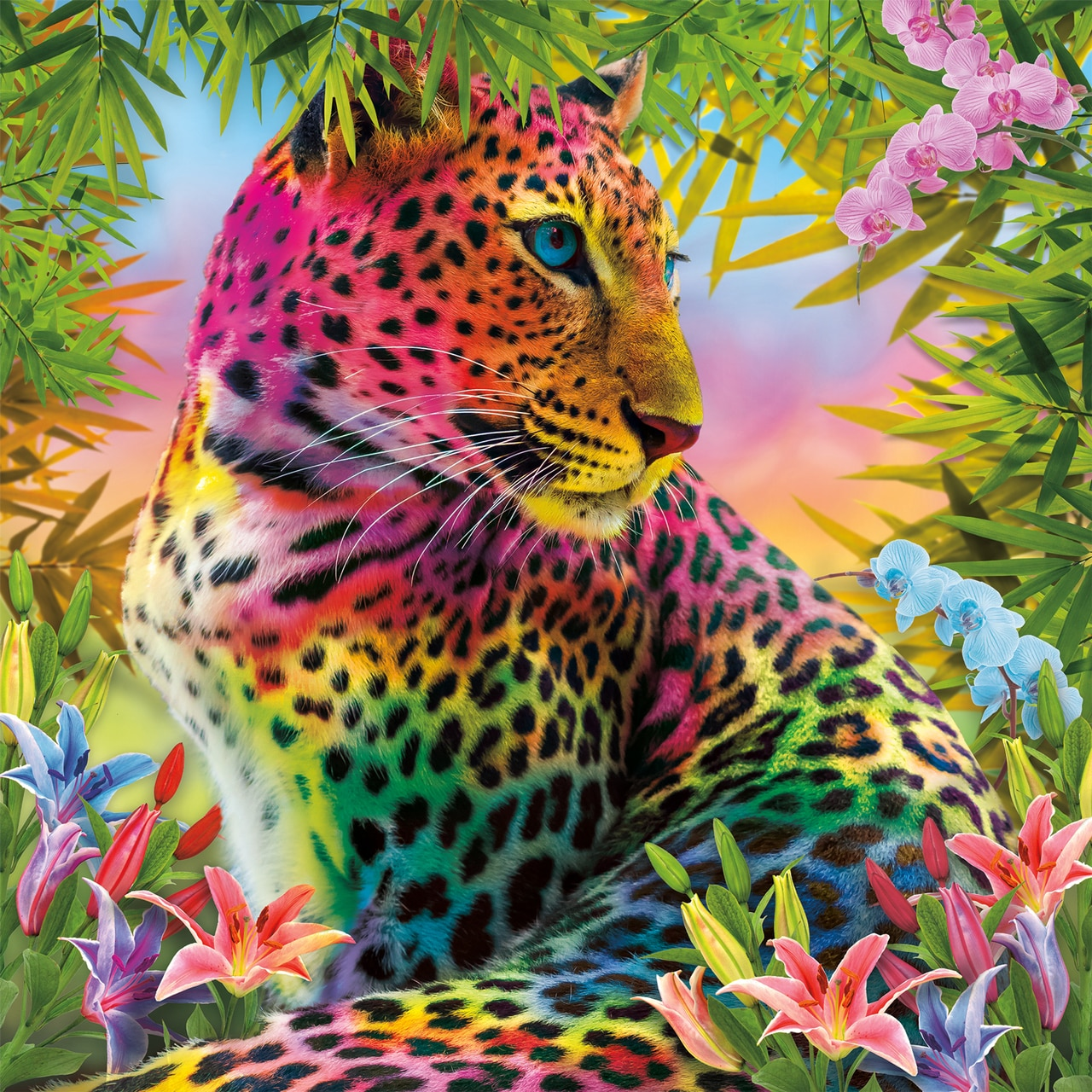 Wild Colors - 300pc Large Format Jigsaw Puzzle by Buffalo Games  			  					NEW