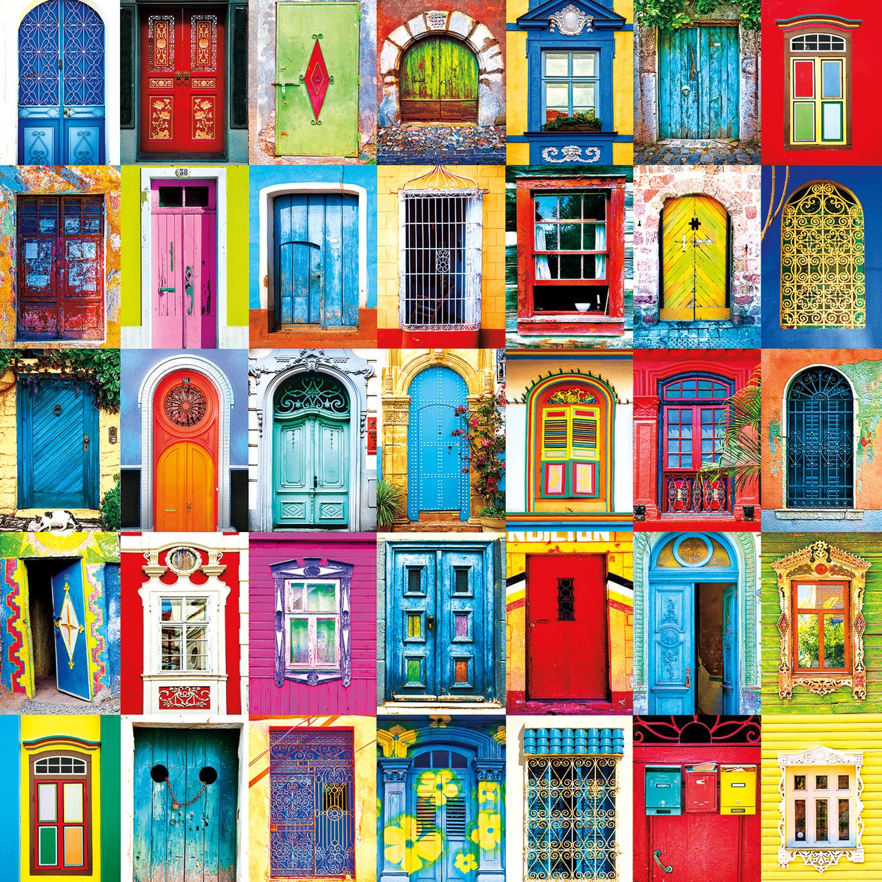 Windows & Doors of the World - 300pc Large Format Jigsaw Puzzle by Buffalo Games  			  					NEW