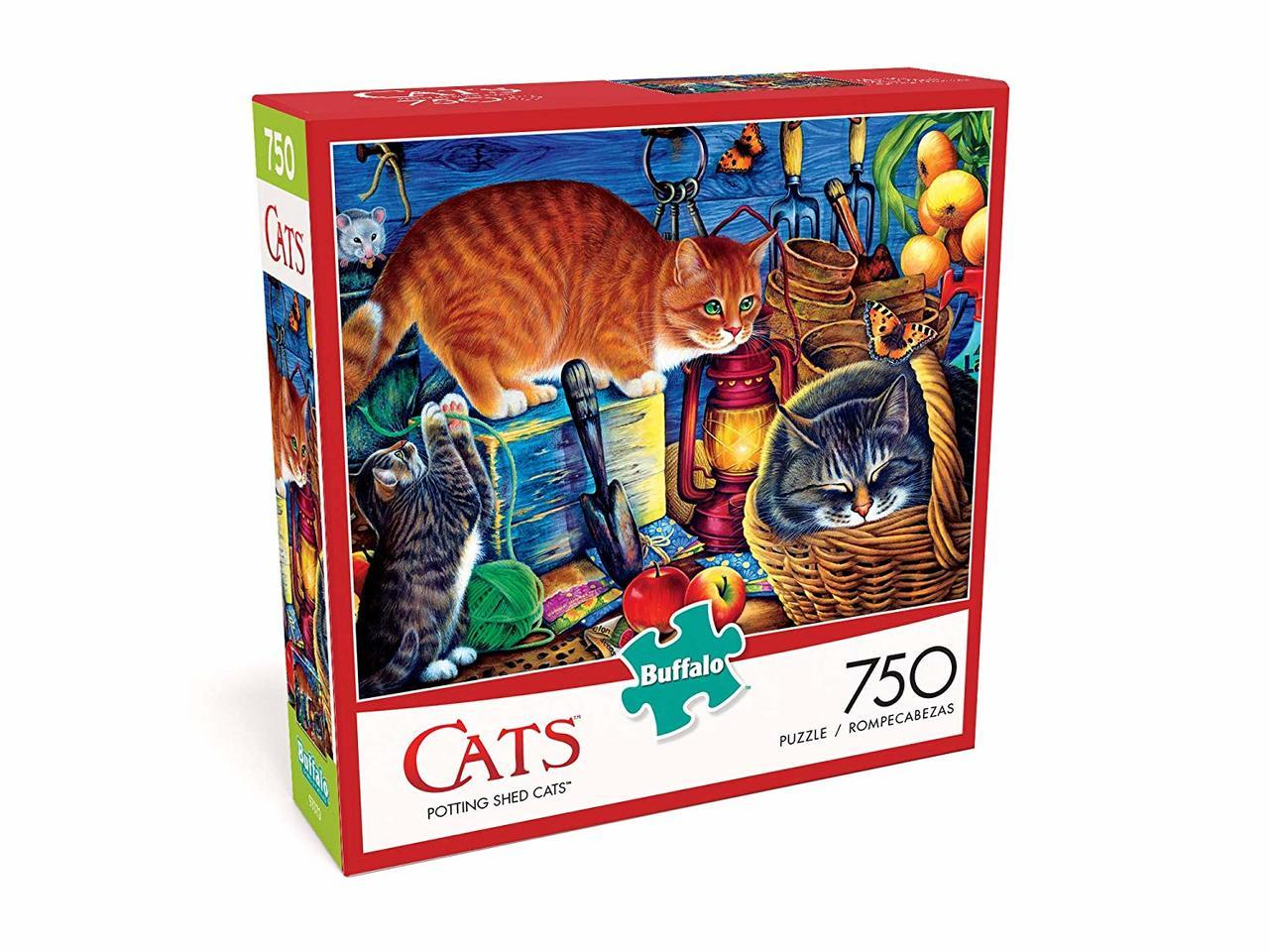 Potting Shed Cats - 750pc Jigsaw Puzzle by Buffalo Games  			  					NEW - image 1