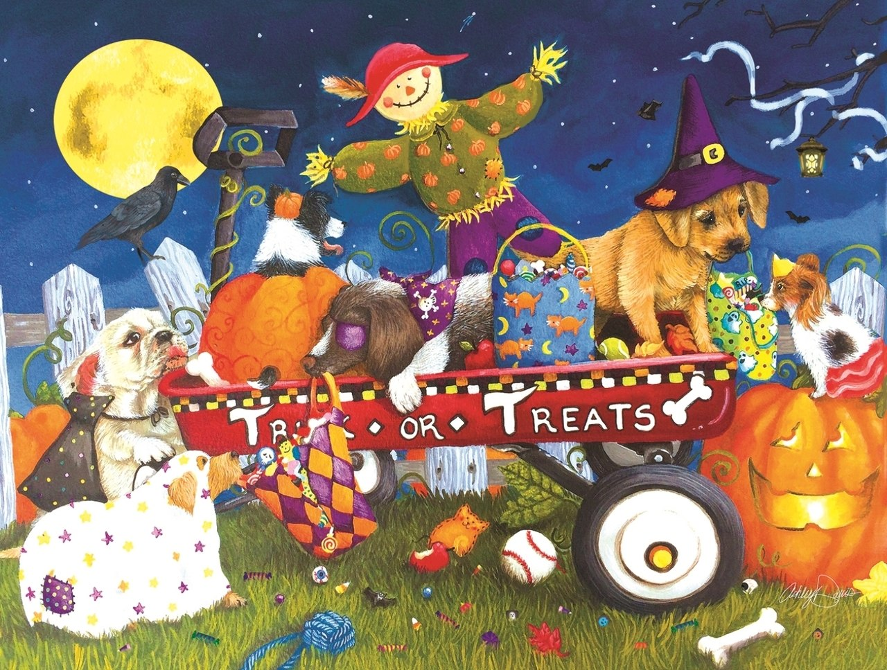 Halloween Puppies - 300pc Jigsaw Puzzle By Sunsout  			  					NEW