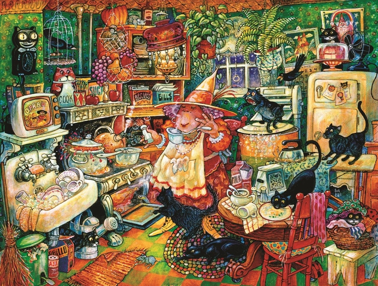 Witchin' Kitchen - 300pc Jigsaw Puzzle By Sunsout  			  					NEW
