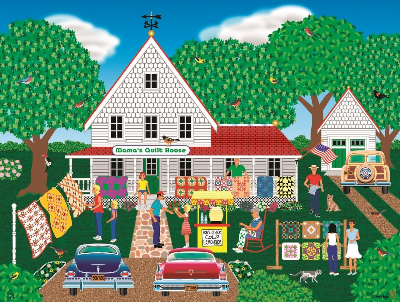 Mama's Quilt House - 1000pc Jigsaw Puzzle By Sunsout  			  					NEW