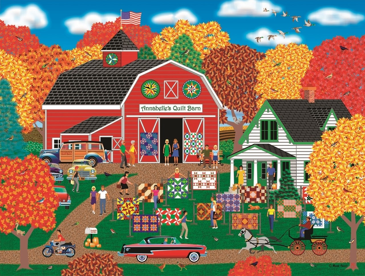 Annabelle's Quilt Barn - 1000pc Jigsaw Puzzle By Sunsout  			  					NEW