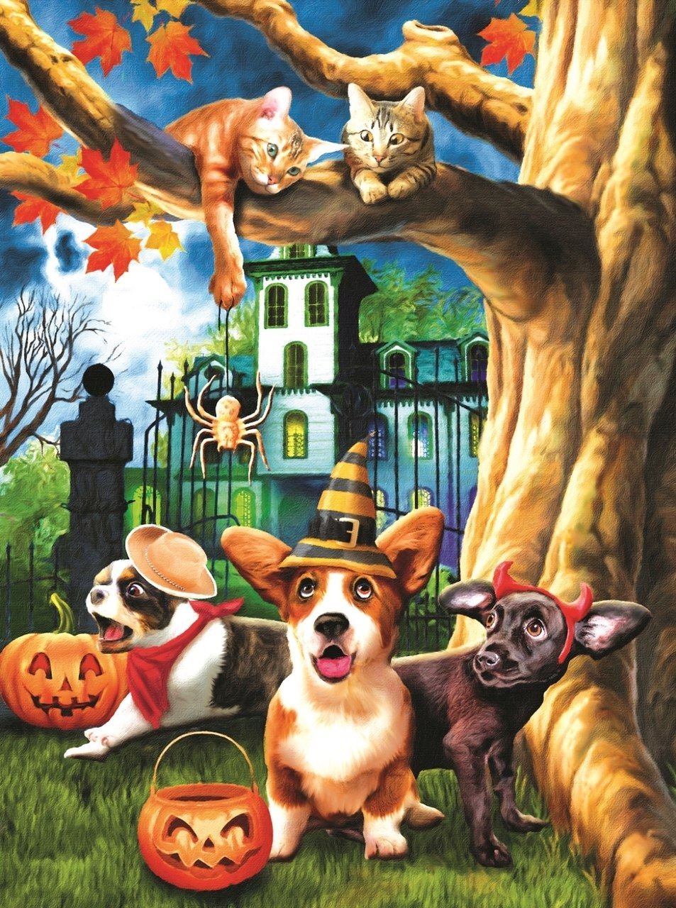 Halloween Hijinks - 1000pc Jigsaw Puzzle By Sunsout  			  					NEW