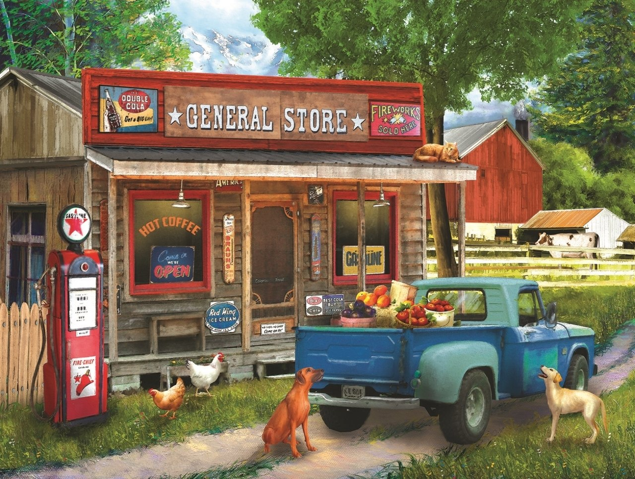 A Stop at the Store - 1000pc Jigsaw Puzzle By Sunsout  			  					NEW