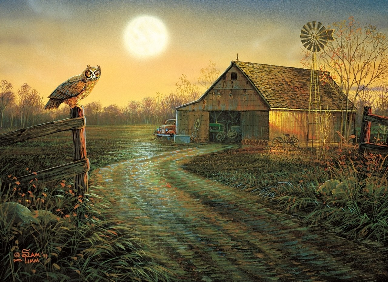 Late Summers Eve - 500+pc Jigsaw Puzzle By Sunsout  			  					NEW