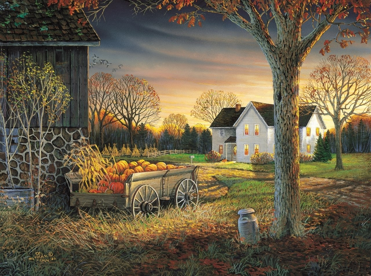 Pumpkin Harvest - 1000pc Jigsaw Puzzle By Sunsout  			  					NEW