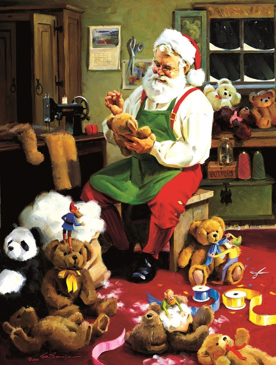 Bearly Christmas - 500pc Jigsaw Puzzle By Sunsout  			  					NEW