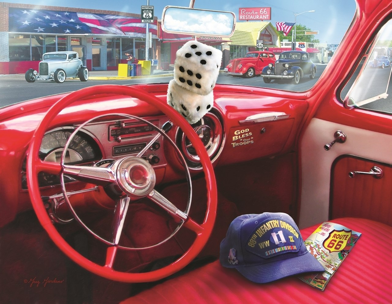 American Car - 1000+pc Jigsaw Puzzle By Sunsout  			  					NEW