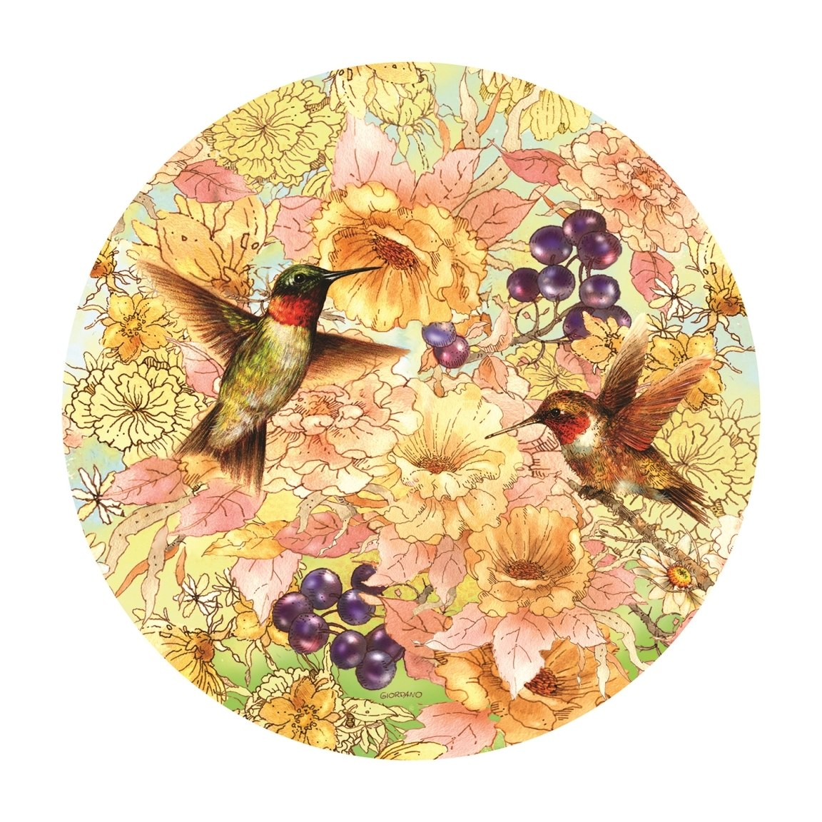 Hummingbirds and Berries - 1000pc Jigsaw Puzzle By Sunsout  			  					NEW