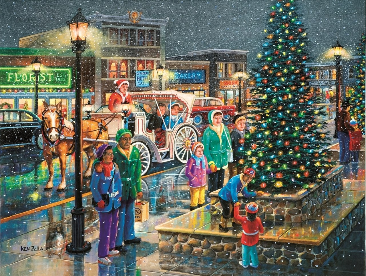 Holiday Lights - 300pc Jigsaw Puzzle By Sunsout  			  					NEW