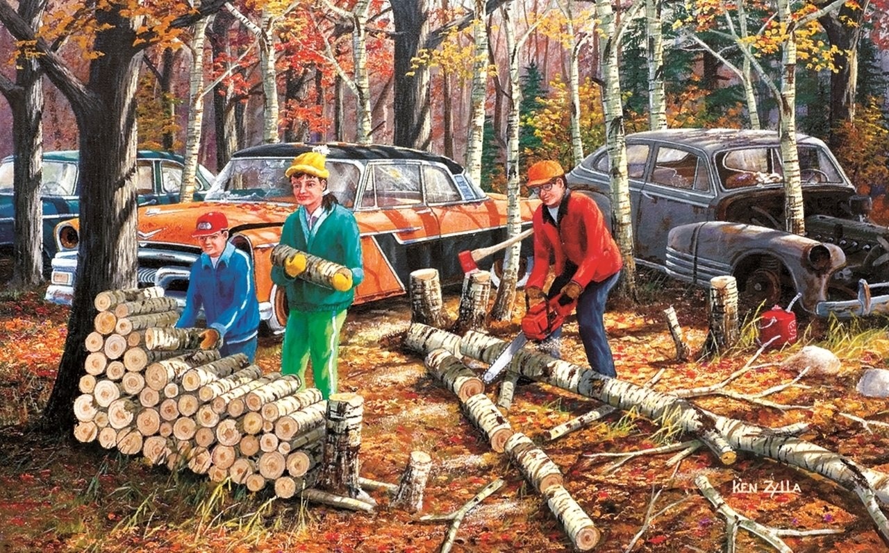 Fall Chores - 300pc Jigsaw Puzzle By Sunsout  			  					NEW