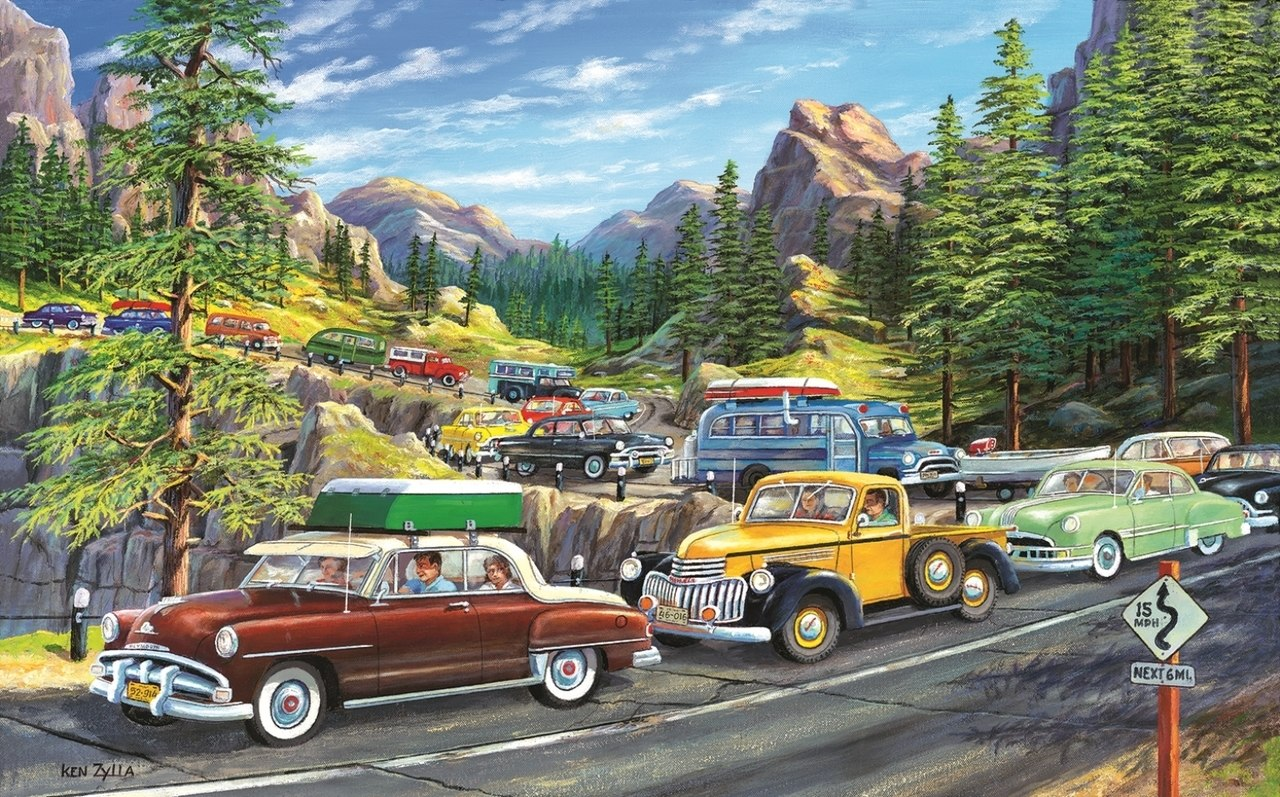 Holiday Traffic - 300pc Jigsaw Puzzle By Sunsout  			  					NEW