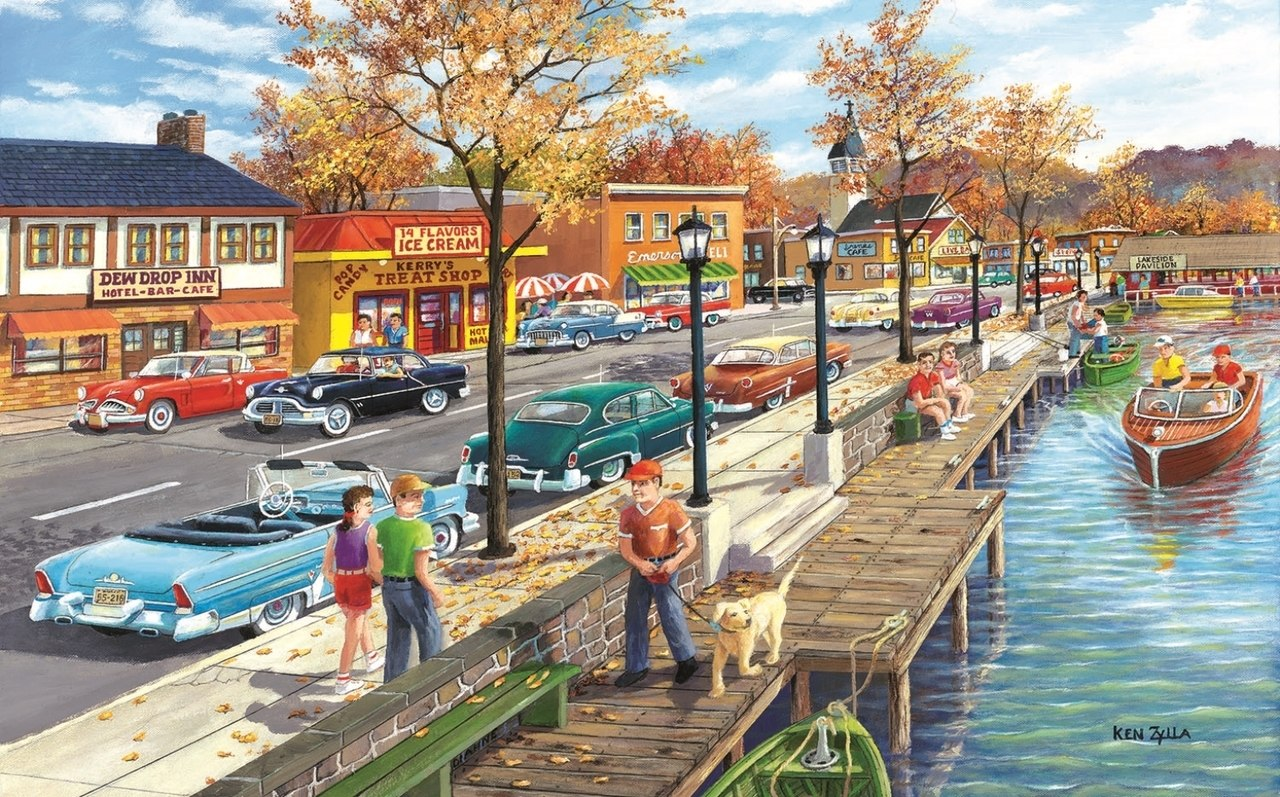 Shoreview Drive - 300pc Jigsaw Puzzle By Sunsout  			  					NEW