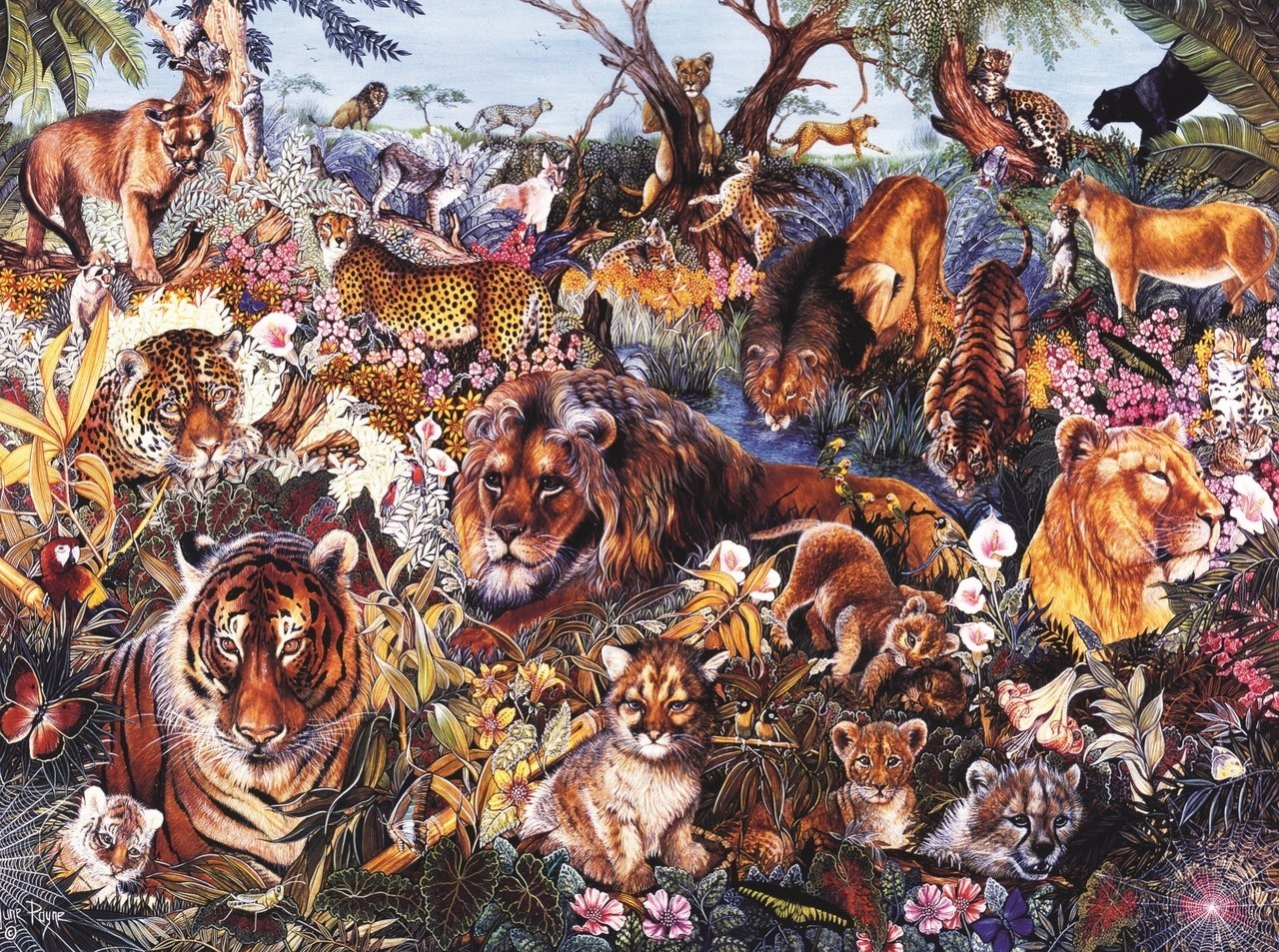 Animal Fantasia - 1000pc Jigsaw Puzzle By Sunsout  			  					NEW